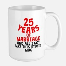 25 Years Of Marriage Mugs