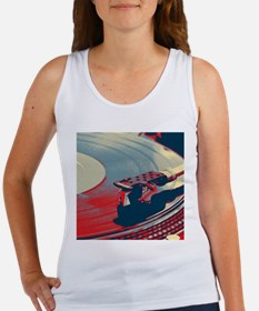 vintage retro record player Tank Top