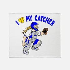 Love My Catcher Throw Blanket