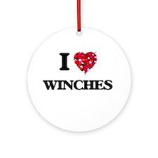 I love Winches Ornament (Round)