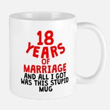 18 Years Of Marriage Mugs