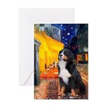 Cafe & Bernese Greeting Card