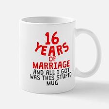 16 Years Of Marriage Mugs