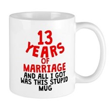 13 Years Of Marriage Mugs