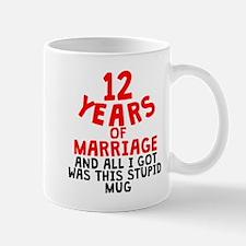 12 Years Of Marriage Mugs