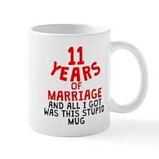 11 Years Of Marriage Mugs