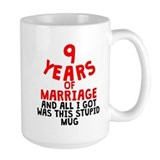 9th anniversary Large Mugs (15 oz)
