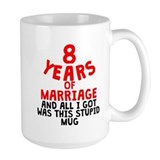 8th wedding anniversary Large Mugs (15 oz)