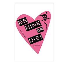 Be Mine Or Die Valentine Postcards (Package of 8)