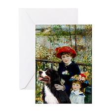 2 Sisters & Bernese Greeting Card