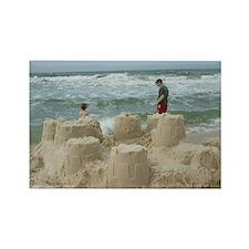 sandcastles Rectangle Magnet