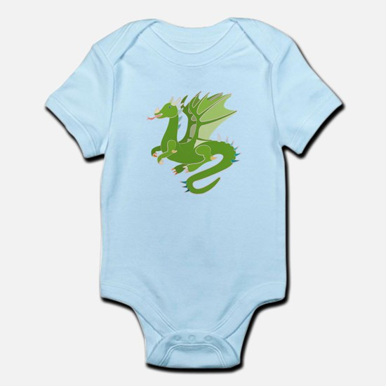 Adorable Green Dragon Body Suit