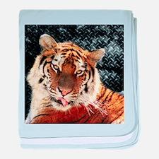 modern tiger baby blanket