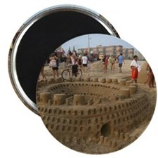 Large sandcastle Magnet