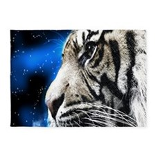 starring night white tiger 5'x7'Area Rug