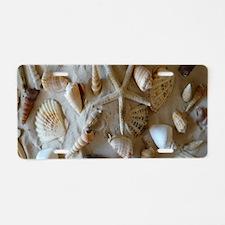 Beautiful Seashells Aluminum License Plate