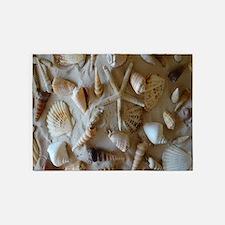 Beautiful Seashells 5'x7'Area Rug