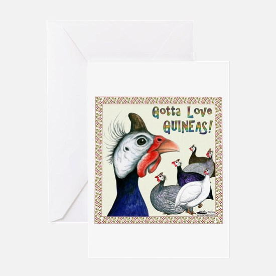 Gotta Love Guineas! Greeting Cards