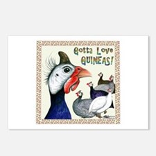 Gotta Love Guineas! Postcards (package Of 8)