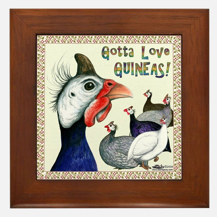 Gotta Love Guineas! Framed Tile