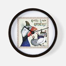 Gotta Love Guineas! Wall Clock