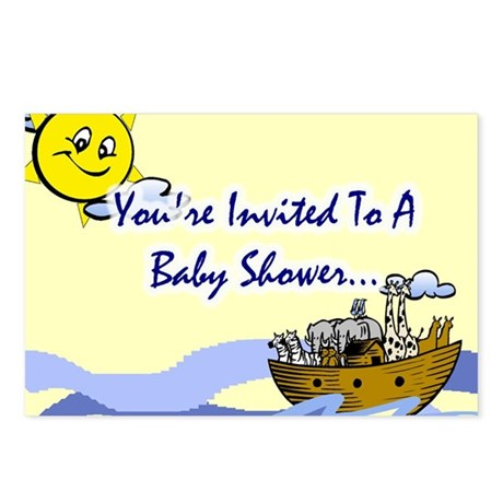 Noah's Ark Baby Shower Invite Postcards (Pkg of 8)