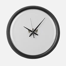 OSMTJ Logo on White Background Large Wall Clock