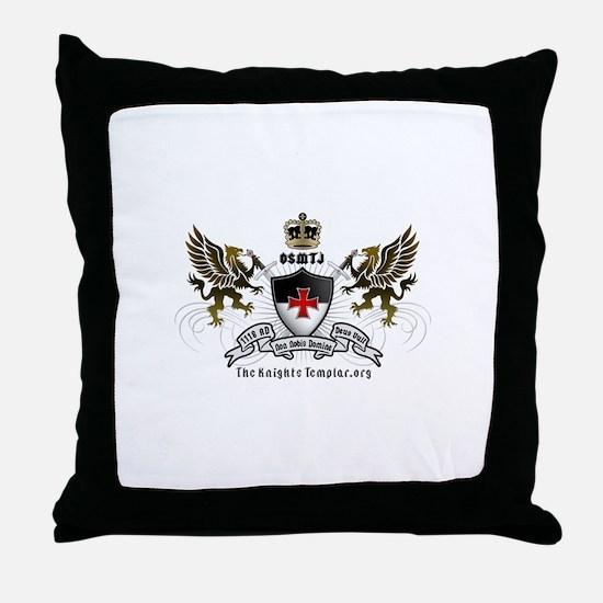 OSMTJ Logo on White Background Throw Pillow