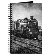 rustic vintage steam train Journal
