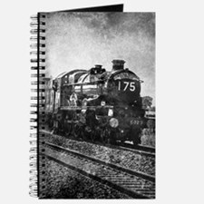 rustic vintage steam train Journal