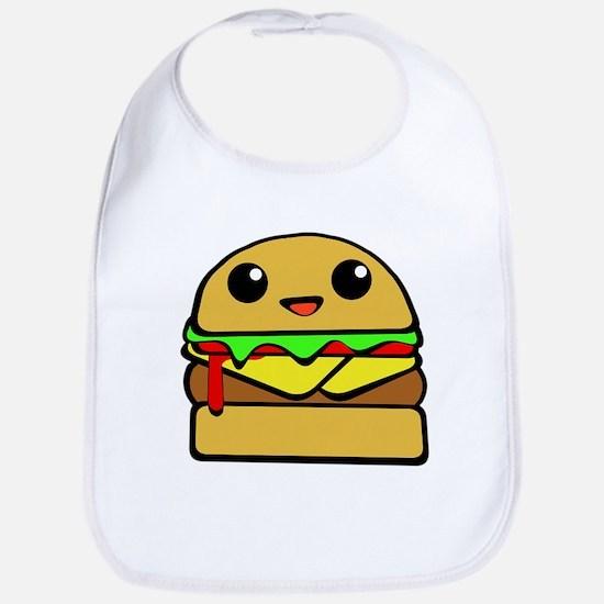 kawaii cheeseburger Bib