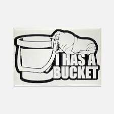 I Has a Bucket Walrus Rectangle Magnet