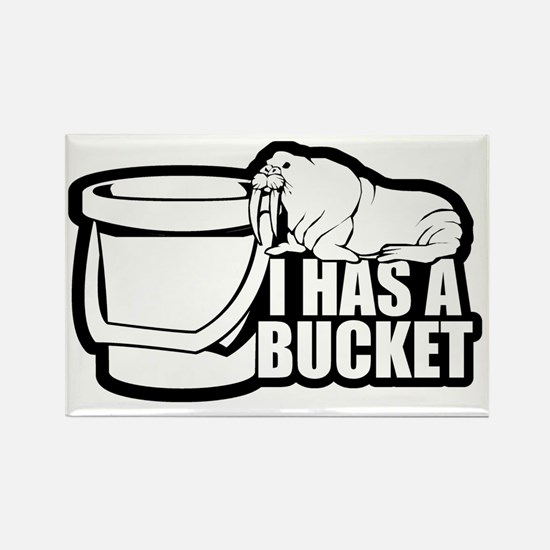 I Has a Bucket Walrus Rectangle Magnet