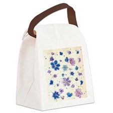 Daisies & Butterflies Canvas Lunch Bag