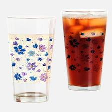 Daisies & Butterflies Drinking Glass