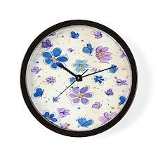 Daisies & Butterflies Wall Clock