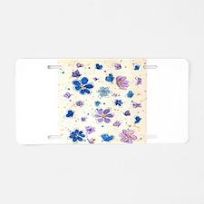 Daisies & Butterflies Aluminum License Plate