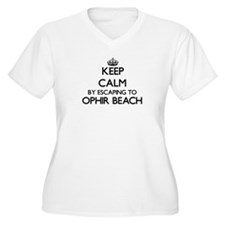 Keep calm by escaping to Ophir B Plus Size T-Shirt
