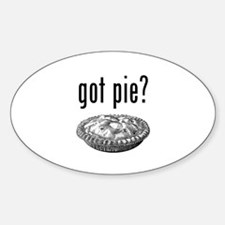 got pie Oval Decal