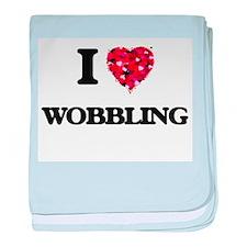 I love Wobbling baby blanket