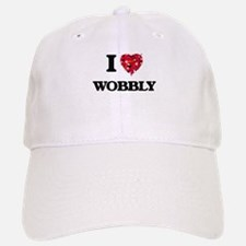 I love Wobbly Baseball Baseball Cap