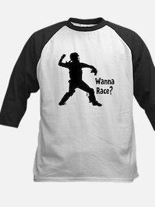 WANNA RACE? Kids Baseball Jersey