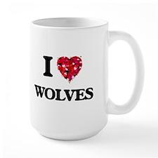 I love Wolves Mugs