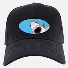 Great White Shark Leaps from Water Baseball Hat