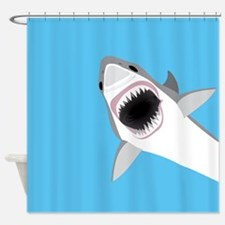Great White Shark Leaps from Water Shower Curtain