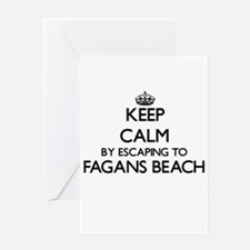 Keep calm by escaping to Fagans Bea Greeting Cards