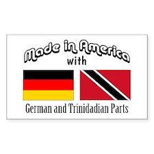 German-Trinidadian Rectangle Decal