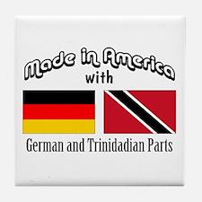 German-Trinidadian Tile Coaster