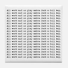 Funny Typewriters Tile Coaster