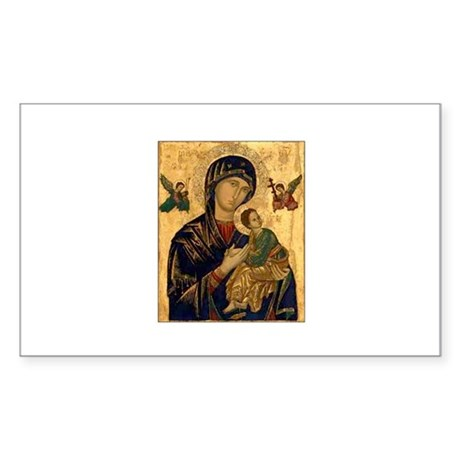 Our Mother of Perpetual Help Sticker (Rectangular